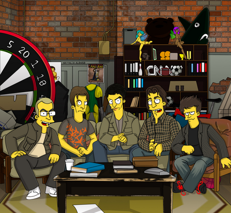 the chaser's war on everything as the simpsons style